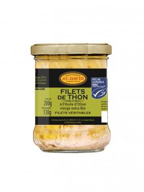 Filets de Thon à l'huile d'olive BIO vierge extra - 200 g