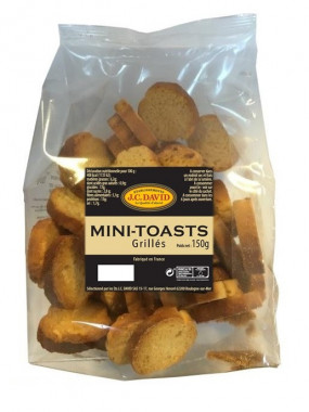 Minis toasts grillés - 150 grs