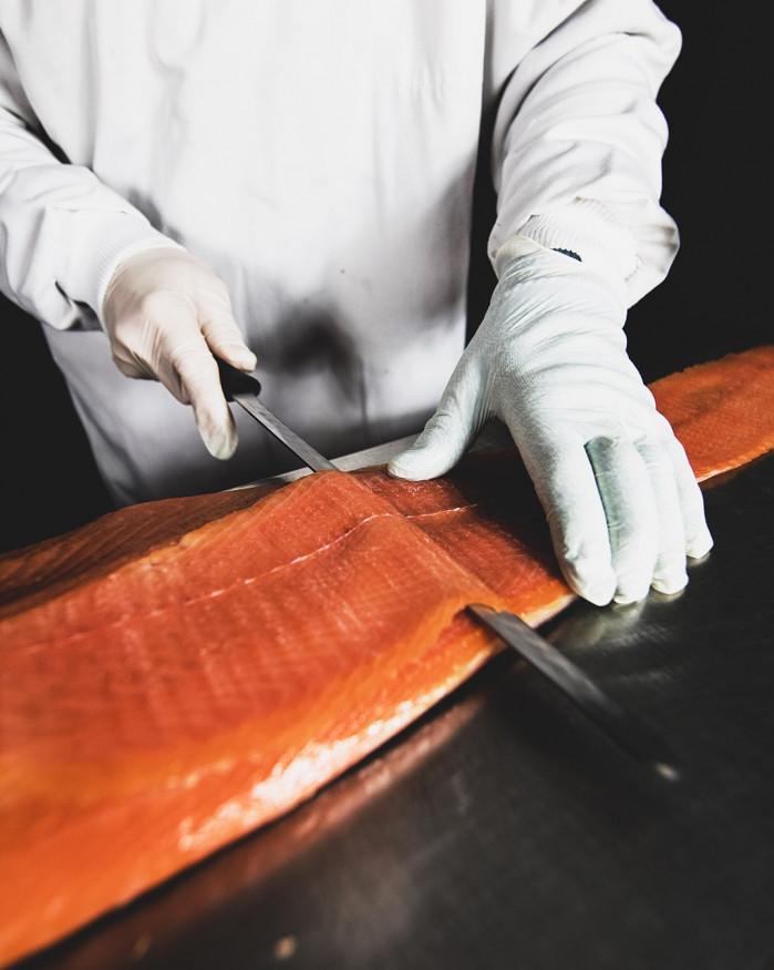 Filet de Saumon fumé d'Ecosse - Tranché - 1,5 kg