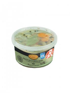Filets de Hareng Doux BIO préparés aux huiles et aromates - 180 g