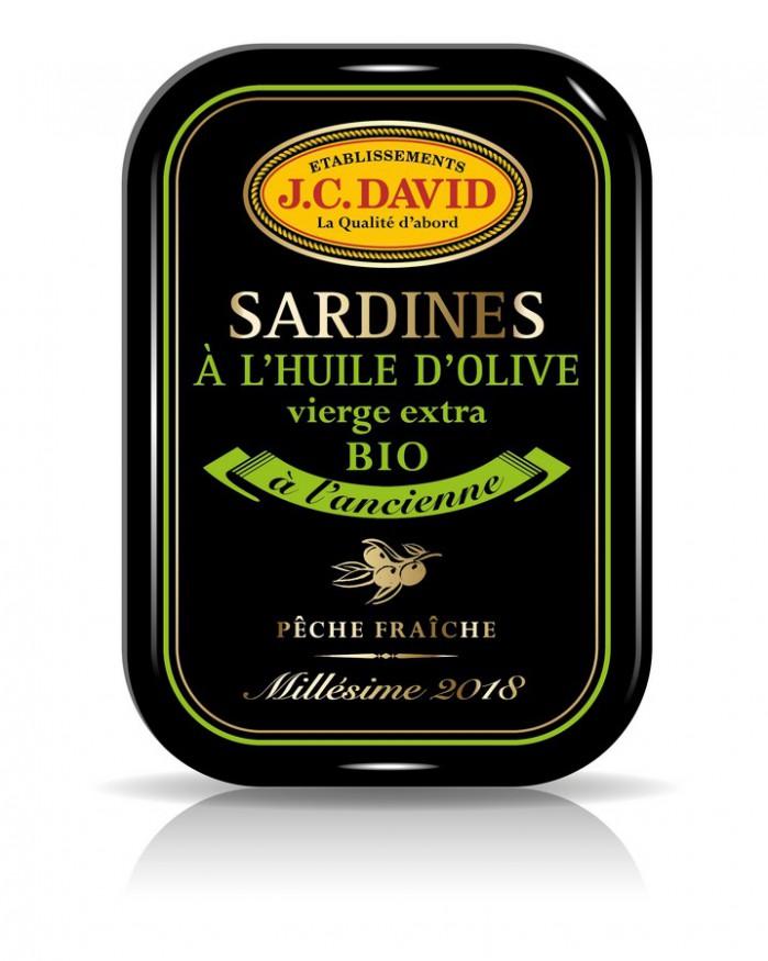 Sardines à l'huile d'olive BIO, Millésimées- 115 g